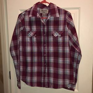 Wrangler button down shirt